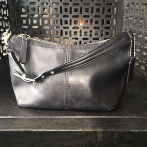Coach Black Leather with Nickel Hardware